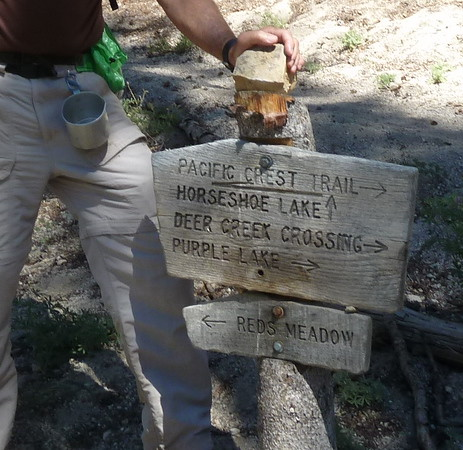 Picture of PCT trail sign